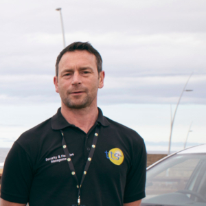 TTS FM Security Officer, Tony Chadwick